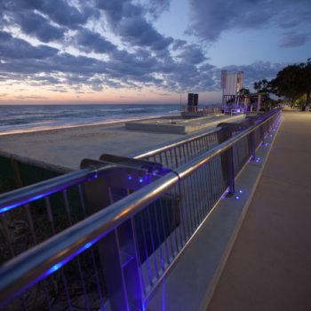 BEACH-E Beachwalk in front of CB at Night