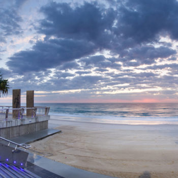 BEACH SP-B Beachwalk Panoramic taken from Cavill Av.