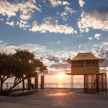 BEACH SP-D Lifeguard Tower at Sunrise